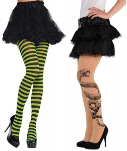 One Off Joblot of 48 Amscan Adults Fancy Dress Tights - Snake & Striped - Medium