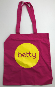 Wholesale Joblot of 50 Betty Pink/Yellow Tote Bag 14.5