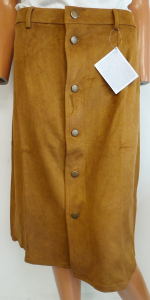 Pallet of 480 Avon Suede Look Button Skirts Tan Sizes 6-12 18/20