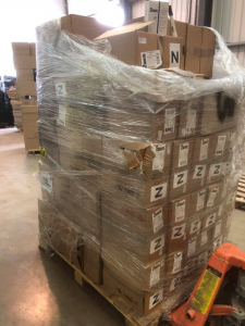 Pallet of approximately 18,000 black chisel tip white board markers