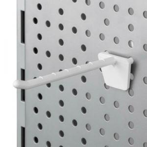 Wholesale Joblot of 50 Plastic Pegboard White Hooks 50mm - 150mm (Pack of 50)