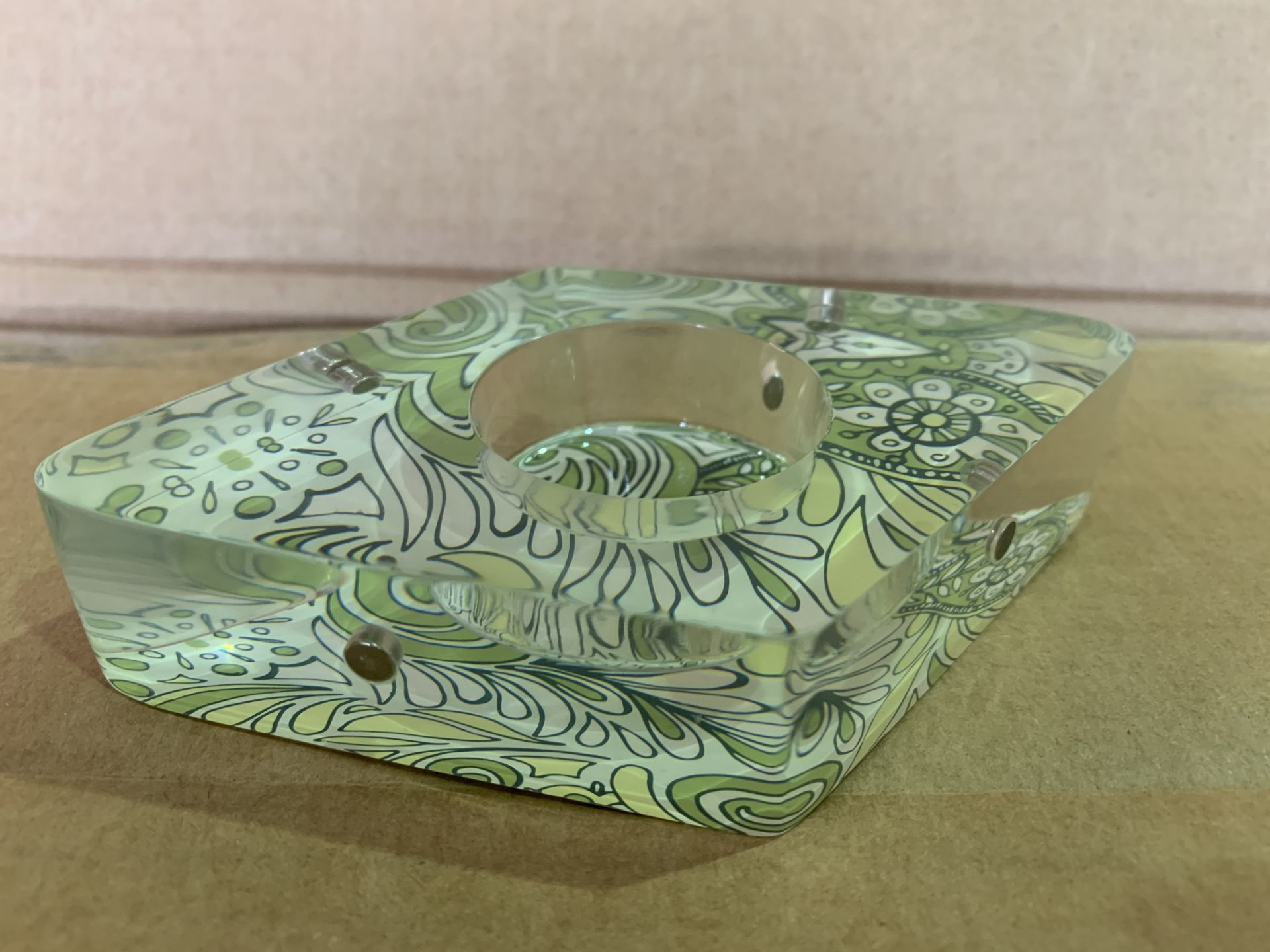 Attractions Kiwi Paisley Colourful Patterned Tealight Holders - 72 Units Per Lot