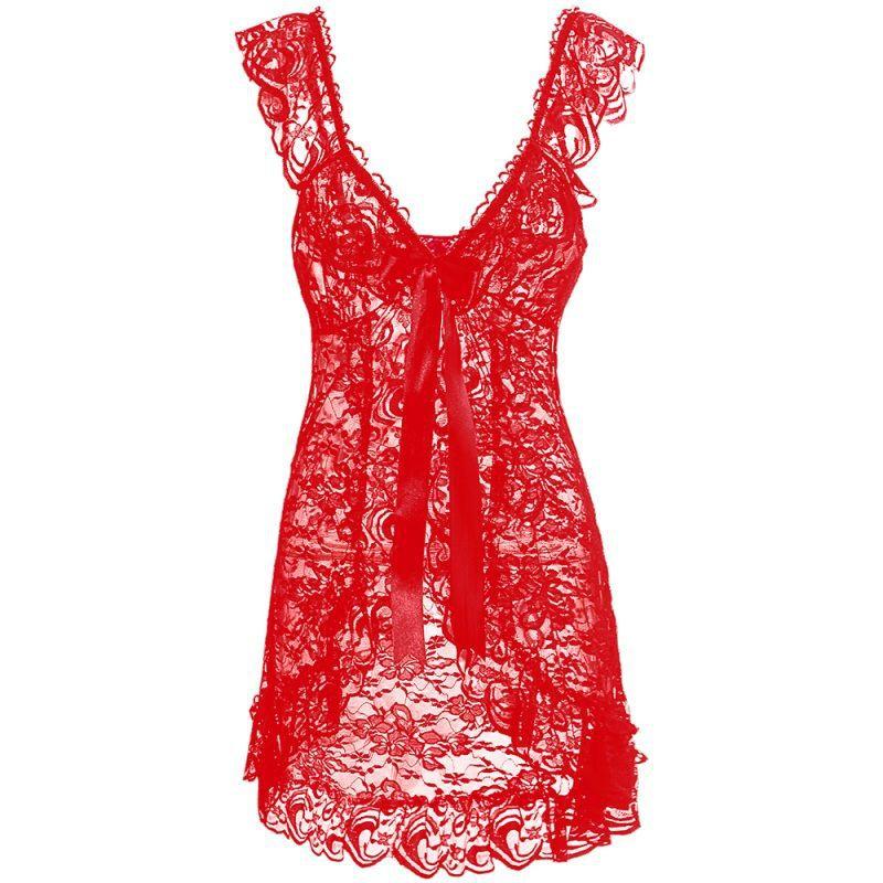 20 Women Sexy Lace Lingerie Erotic Babydoll Chemise Night Wear UK Size 8-14|GCL093