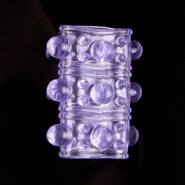 20 Silicone Textured Penis Sleeve Band  UK SELLER GCAP032