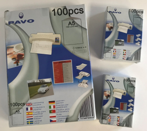 One Off Joblot of 122 Pavo Laminating Pouches in 3 Sizes (Pack of 100)