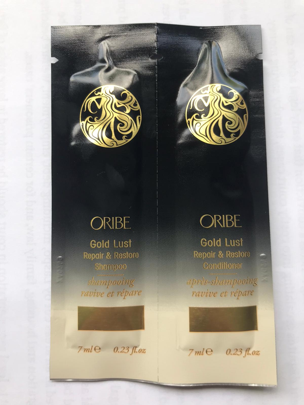 300 x Oribe Gold Lust Repair And Restore Shampoo And Conditioner Sachets