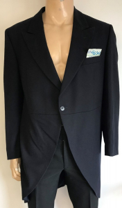One Off Joblot of 7 Wilvorst Mens Navy Morning Tail Suit Jackets Size XL