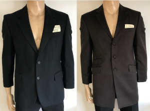 One Off Joblot of 8 Mens Formal Suit Jackets in 2 Styles - Black & Brown