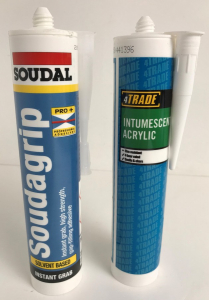 Pallet of 466 4Trade Intumescent Acrylic & Soudal Soudagrip 300/310ml