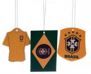 One Off Joblot of 340 Official Brazil/Brasil Football Air Fresheners (Pack of 3)
