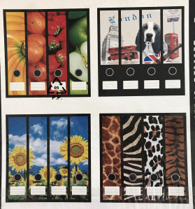 Pallet of 2392 Box File Stickers in 4 Designs Fruit, Flowers & More (Pack of 4)