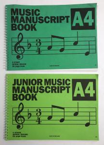One Off Joblot of 550 Music Manuscript Book A4 50 Page Book Spiral Bound