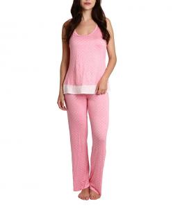 One Off Joblot of 40 Blis Light and Airy Short Pyjama Set Pink Dot Sizes S-XL