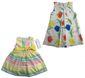 One Off Joblot of 6 Byblos Girls Summer Dresses in 2 Fashionable Styles