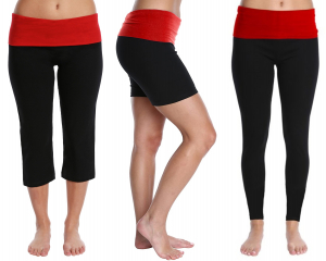 One Off Joblot of 22 Blis Ladies Black/Red Yoga Leggings, Capri & Shorts