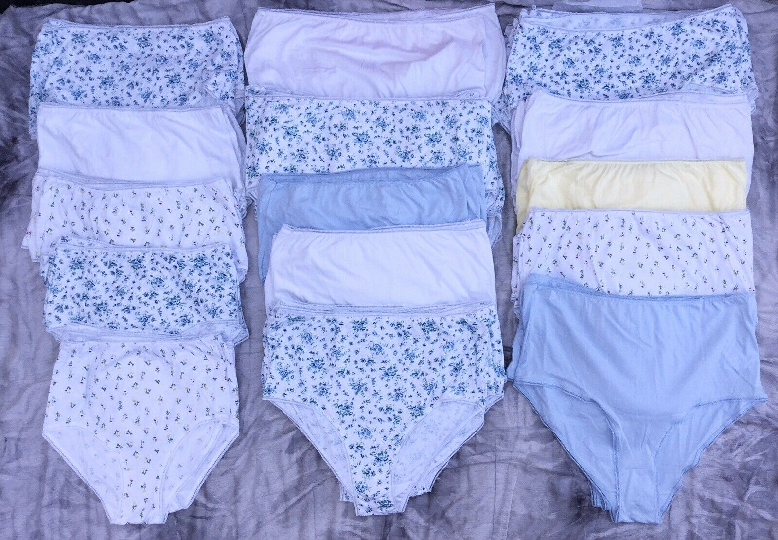 Damart 100% Cotton Mama Full Briefs Small to 3XL Lots of 115 Pairs
