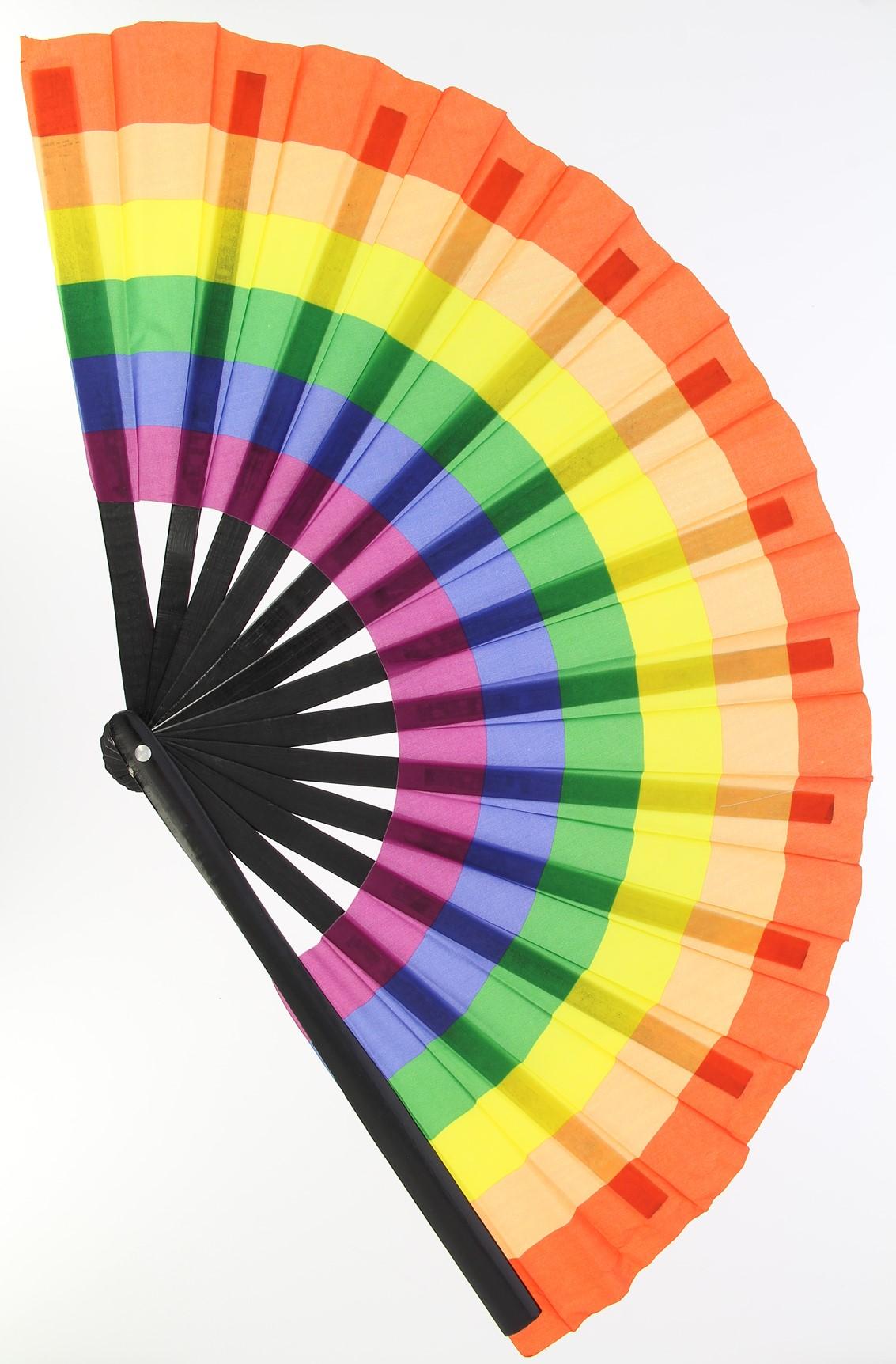 100 x Rainbow fan | UK SELLER |