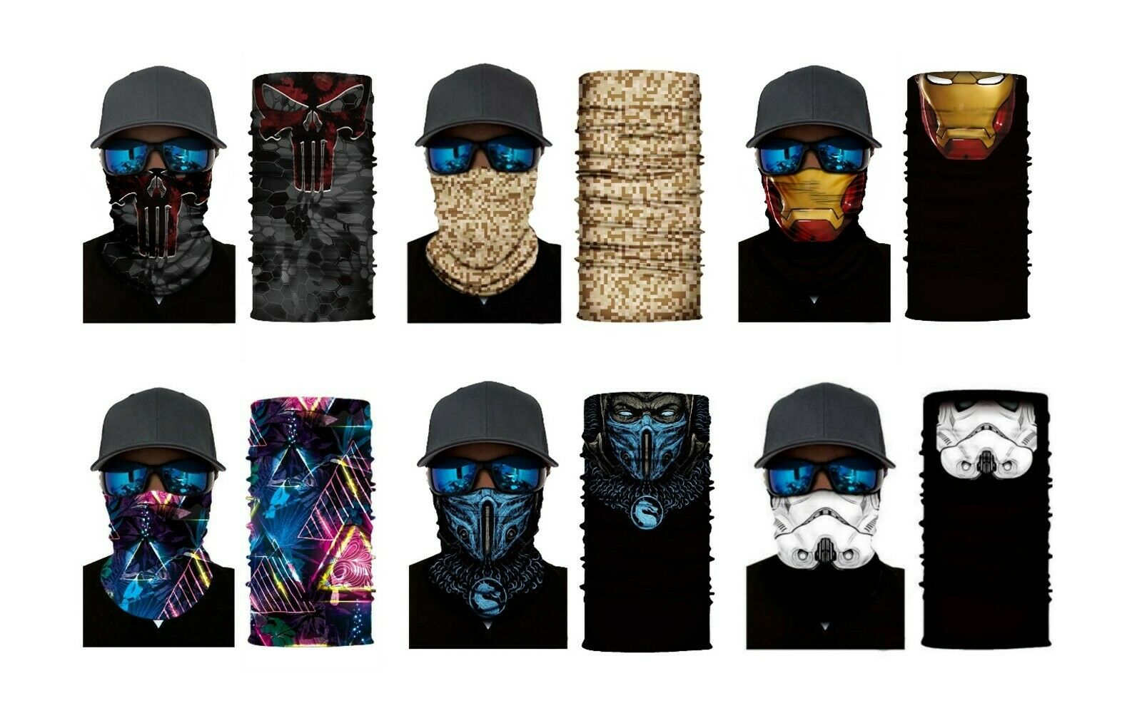 Wholesale - Face Covering / Neck Gaiter / Headwear - in 9 Designs