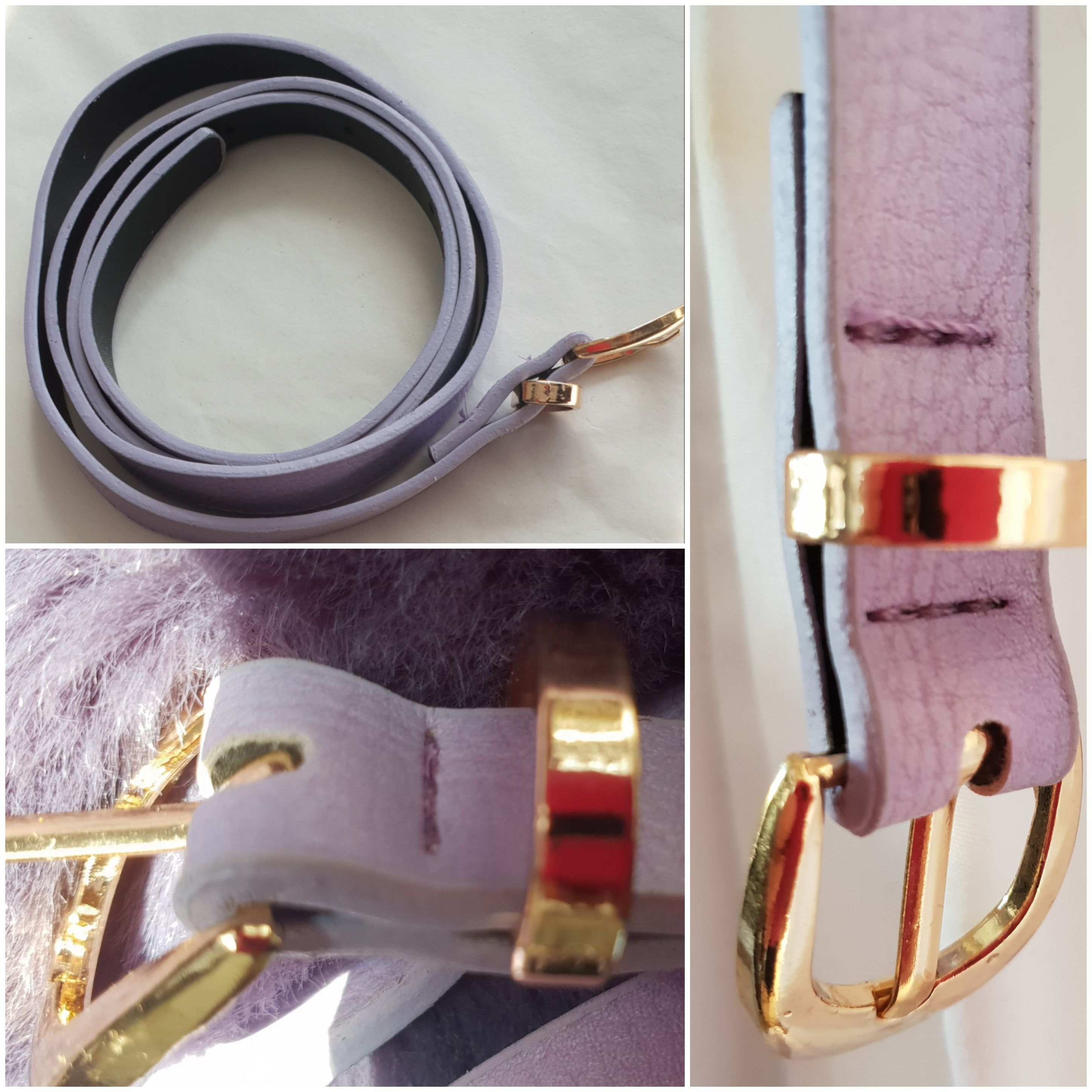24 x Quality Lilac Faux Leather Belts 24