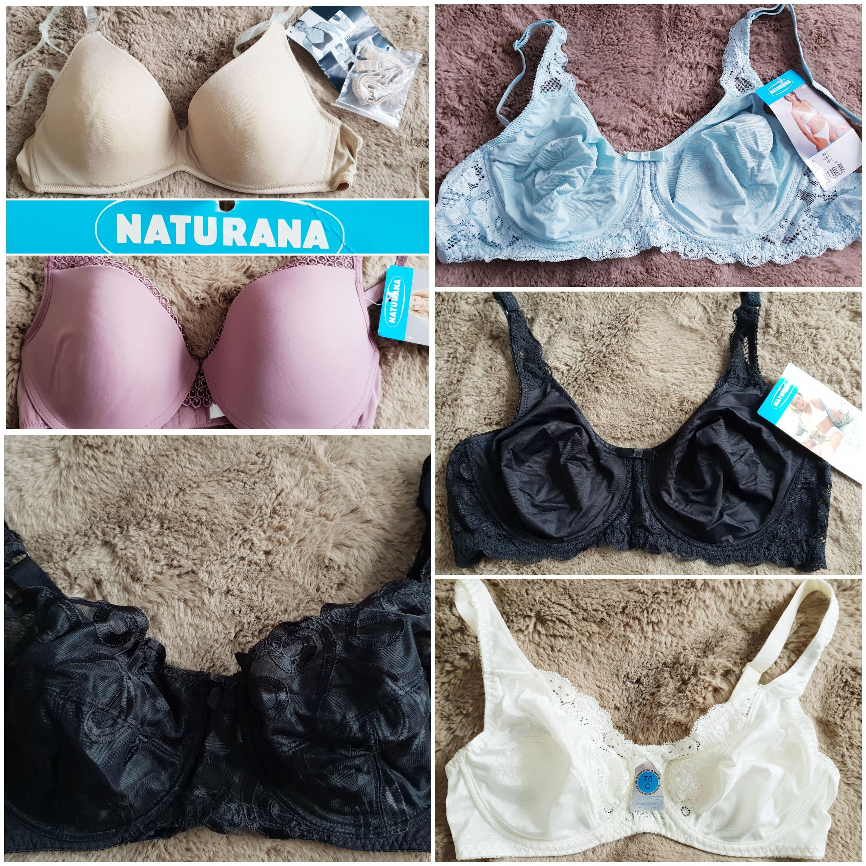 Naturana Bras Lot 29 Bras sizes 34-40 B C D E With Tags