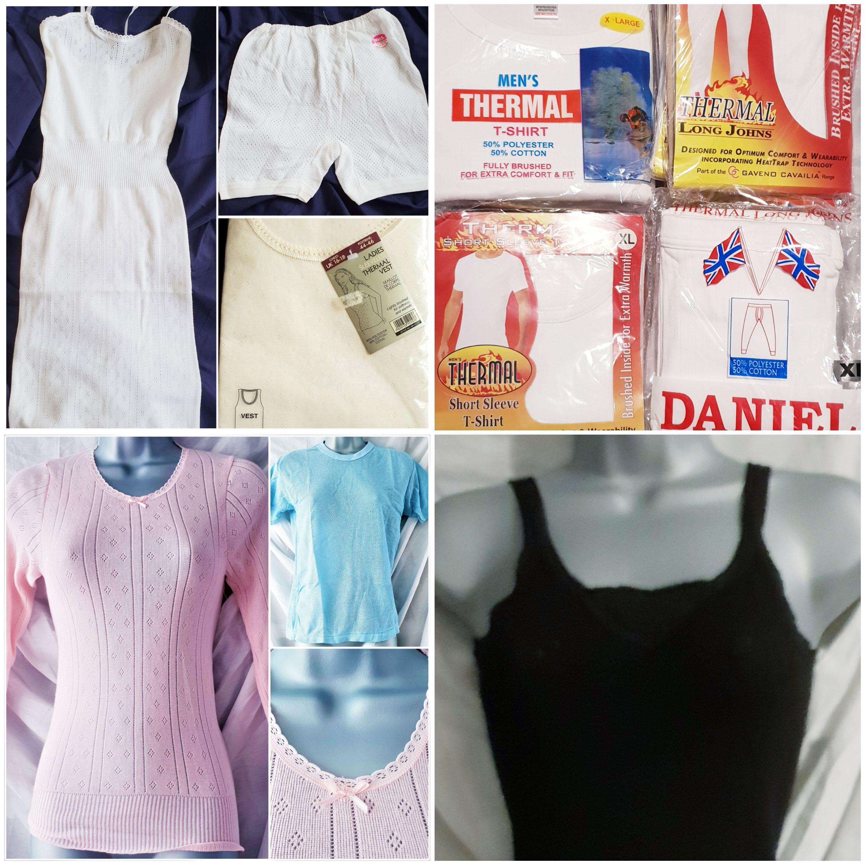Lot of 27 items of Thermal Underwear Men & Women