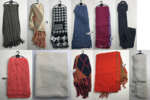 One Off Joblot of 25 Ex-Chain Store Scarves in Various Styles