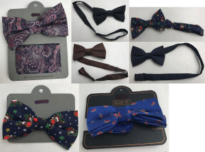 One Off Joblot of 48 Ex-Chain Store Bow Ties - Assorted - Some Christmas