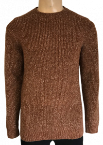 Wholesale Joblot of 10 Ex-Chain Store Mens Brown Cable Jumper Various Sizes