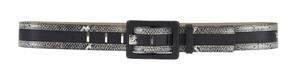 Playboy Gothic Glamour Snakeskin Belt Black PL4341-BLK