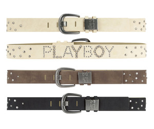 Playboy Mens Stud Black belt PM0083-BLK