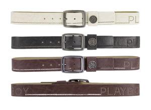 Playboy Mens Perforated Belt Brown PM0084-BRN