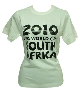 Joblot of 10 Womens 2010 South Africa World Cup Size 10 T-Shirts