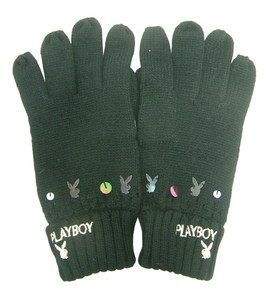 Joblot of 10 Playboy Womens Black & Sequin Detailed Gloves PG0060-BLK