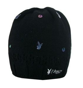 Joblot of 10 Playboy Womens Black & Sequin Detail Hats PH1317-BLK
