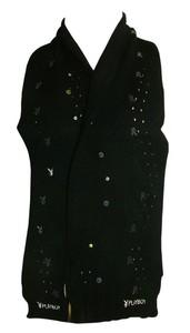 Joblot of 10 Playboy Womens Black & Sequin Detail Scarves PS0059-BLK