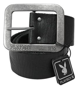 Joblot of 10 Black Playboy Since 1953 Buckle Belts PM0024