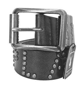 Joblot of 10 Playboy Studded Silver Buckle Belts Black Unisex PM0108-BLK