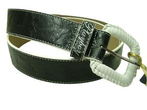 Wholesale Joblot Of 10 Plaited Buckle Playboy Ladies Belts (PL4301BLK)