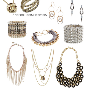 Mixed lot of 50 items of French Connection FCUK Jewellery