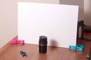 Take photos against a backdrop