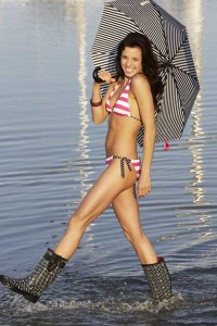 Bikini? Wellington boots? Umbrella? That should just about cover all bases!