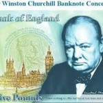 The new Churchill fiver. Spend me on the beaches ...