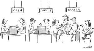 Cash, credit or barter?