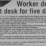 Man Died at Desk and Nobody Noticed: Workplace productivity