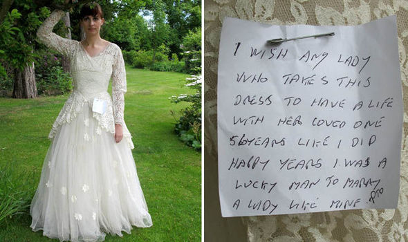 The much missed wife's wedding dress