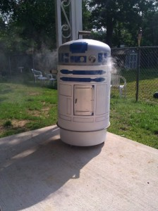 Quick! R2-D2 is on fire!
