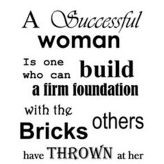 Bricks should only be used to smash the glass ceiling