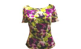 Joblot of 10 Blouses Ladies Floral Pattern Purple/Green Fitted Various Sizes