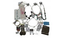 Joblot of 100 Fashion Jewellery Mixed Necklaces, Earrings and Bracelets