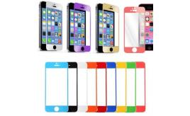 300 x HIGH QUALITY COLOURFUL TEMPERED GLASS ANTI-SCRATCH SCREEN PROTECTOR